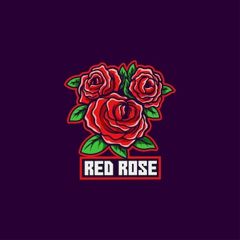 Logo di matrimonio romantico giardino di rose rosse