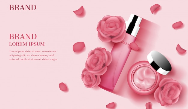 Rose rosse con petali e crema aperta