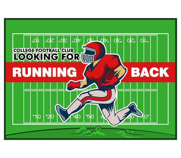 Red running back poster di reclutamento