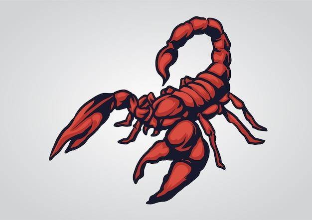 Scorpione rosso