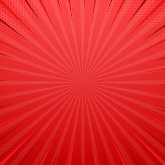 Botola laterale rossa con effetto mezzetinte. illustrazione vettoriale retrò vintage pop art.