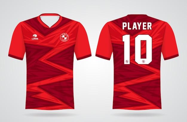 Modello di maglia sportiva rossa per uniformi della squadra e design della maglietta da calcio