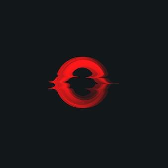 Icona di vettore di alba di fusione del tramonto che brucia sole rosso