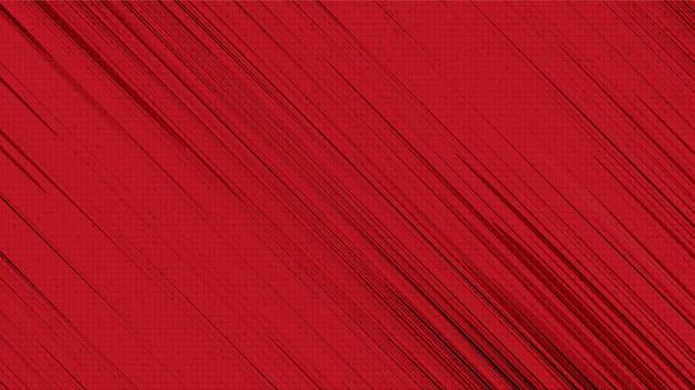 Sfondo rosso di tecnologia, design del concetto di velocità e 5g, spazio libero per il testo in entrata, illustrazione vettoriale.