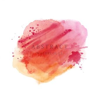 Priorità bassa della spazzola dell'acquerello dell'estratto di tono rosso