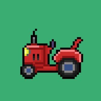 Trattore rosso in stile pixel art