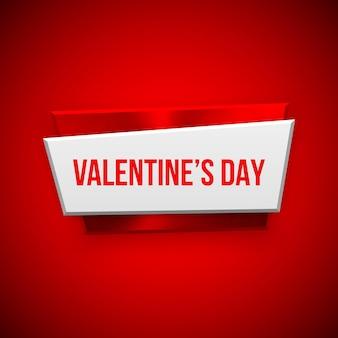 Distintivo astratto rosso di giorno di biglietti di s. valentino