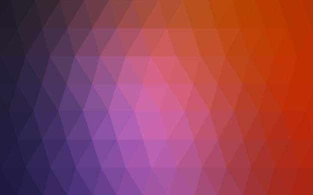 Illustrazione poligonale vettoriale rosso