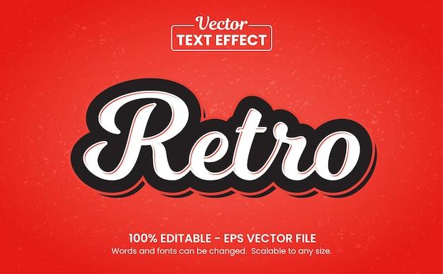 Rosso vintage e retrò, effetto testo modificabile