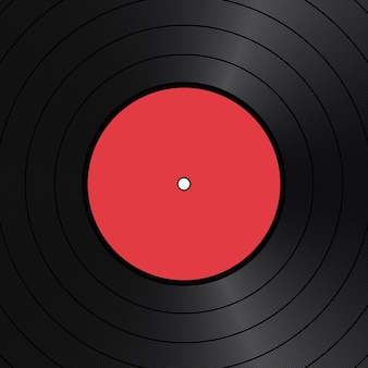 Sfondo vintage disco in vinile rosso