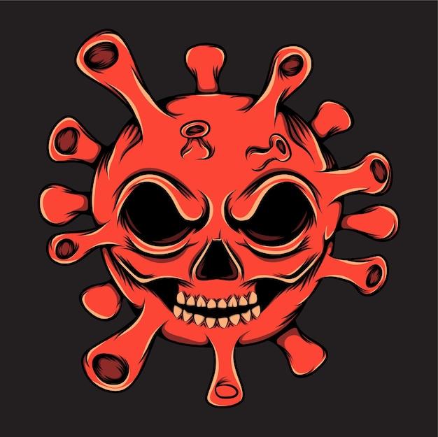 Il virus rosso sta dando l'espressione del sorriso