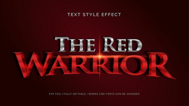 L'effetto del testo del guerriero rosso