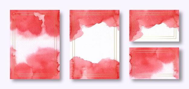 Modello di carta di invito acquerello rosso