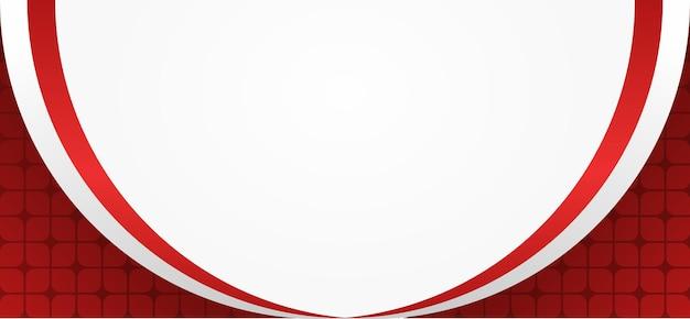 Sfondo rosso e bianco con bandiera indonesiana ondulata e batik