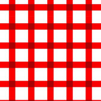 Motivo a quadretti rosso e bianco senza cuciture
