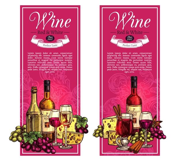 Rosso e bianco schizzo banner design