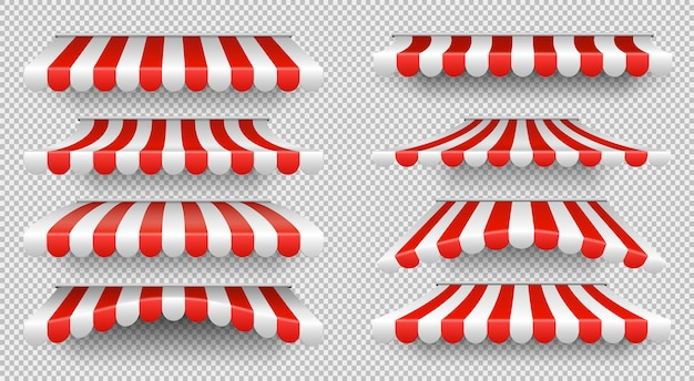 Parasole rosso e bianco