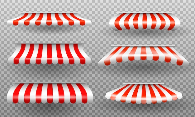 Parasole rosso e bianco.