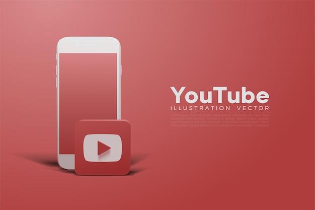 Red youtube 3d e smartphone bianco
