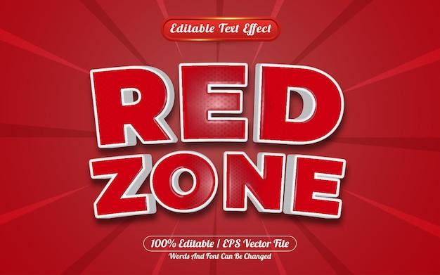 Stile modello effetto testo modificabile zona rossa 3d