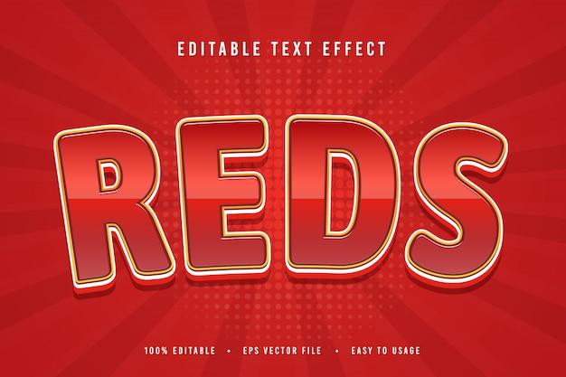 Reds effetto testo