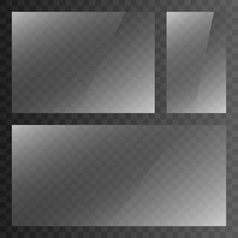 Effetto riflesso trasparenza. texture, cornice. superficie in vetro. finestra.