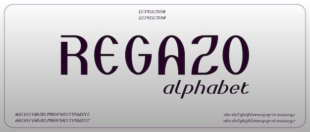 Regazo, moderno alfabeto creativo con modello in stile urbano