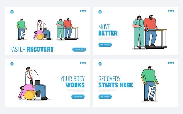 I medici di concetto di riabilitazione trattano le persone ferite