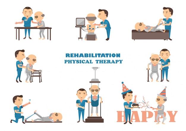 Terapia fisica di riabilitazione.