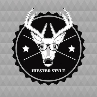 Timbro di sigillo occhiali cervi renne