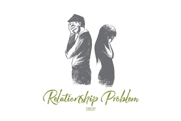 Illustrazione di concetto di problema di relazione