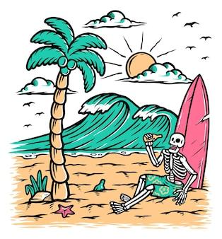 Rilassati e bevi sulla spiaggia