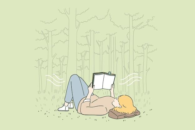 Tempo libero relax e concetto di lettura