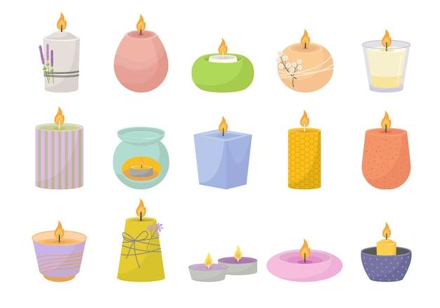 Set di candele aromatiche rilassanti