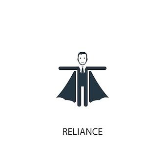 Icona di fiducia. illustrazione semplice dell'elemento. affidamento concetto di simbolo di design. può essere utilizzato per web e mobile.