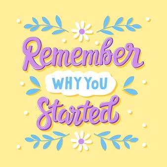 Ricorda perché hai iniziato a scrivere