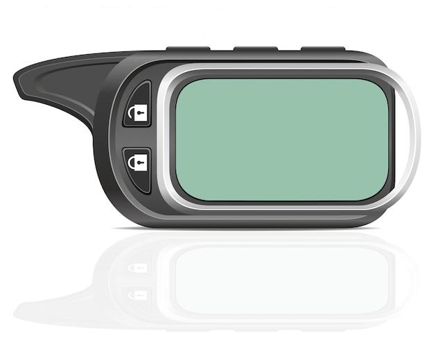 Illustrazione di vettore di allarme auto remoto