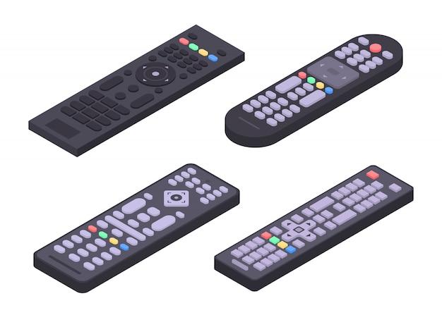 Set di icone remote, stile isometrico