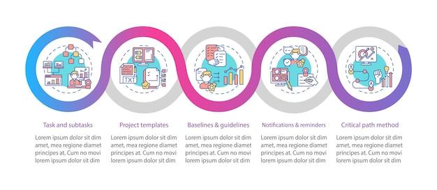 Modello di infografica struttura strumento di lavoro remoto