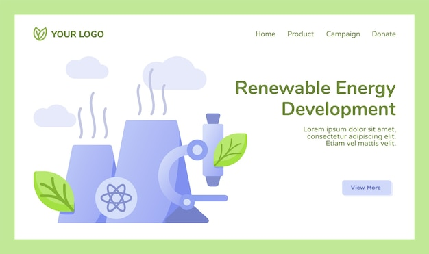 Campagna di microscopio della centrale nucleare del reattore di sviluppo delle energie rinnovabili