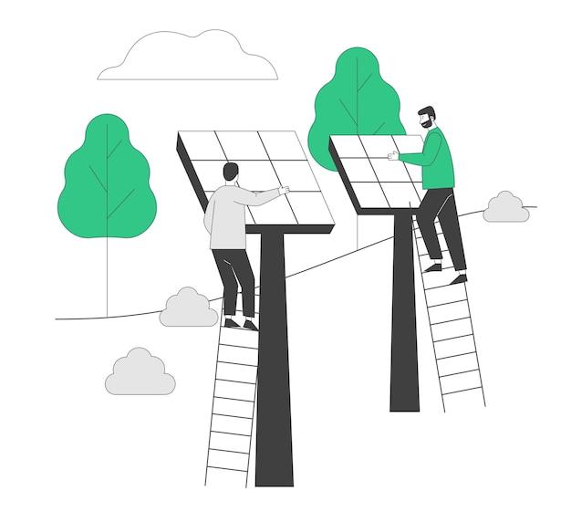 Concetto di energia verde rinnovabile.