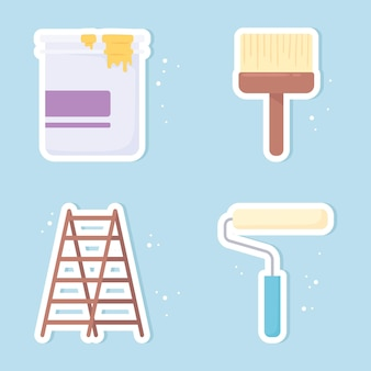 Set di colori per vernice di ristrutturazione