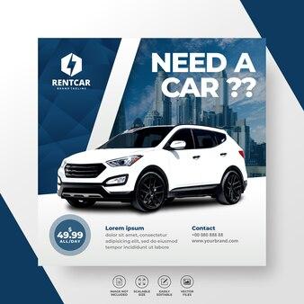 Noleggio auto per social media post banner moderno moderno