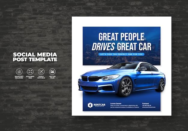 Noleggio auto per social media post banner nuovo modello