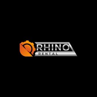 Design del logo di noleggio per attrezzature pesanti