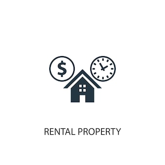 Icona di proprietà in affitto. illustrazione semplice dell'elemento. disegno di simbolo del concetto di proprietà in affitto. può essere utilizzato per web e mobile.