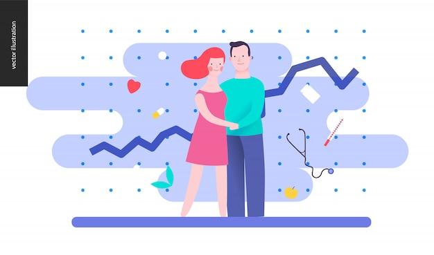 Riproduzione - una coppia che pianifica un bambino