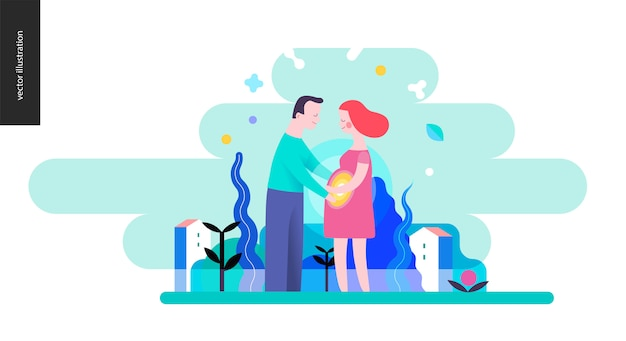 Riproduzione - una coppia incinta
