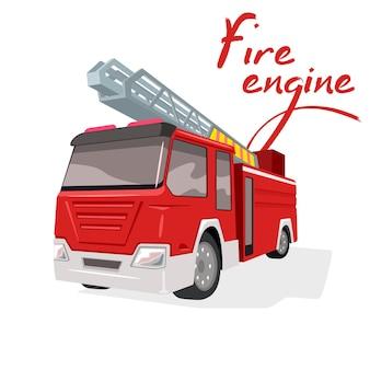Trasporto del motore di salvataggio, salvare vite umane, furgone dei vigili del fuoco