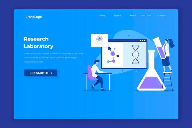 Pagina di destinazione del laboratorio di ricerca Vettore Premium
